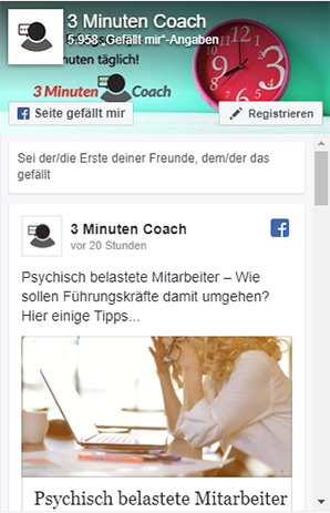 3MinutenCoach auf Facebook