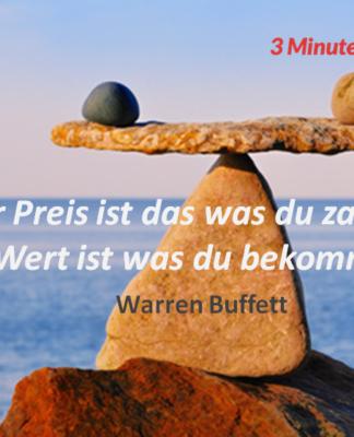 Spruch-des-Tages Warren Buffet Preis Wert