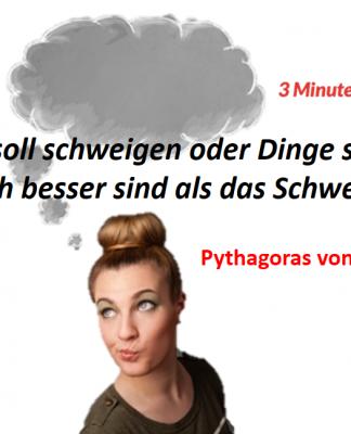 Spruch-des-Tages_Pythagoras_Schweigen