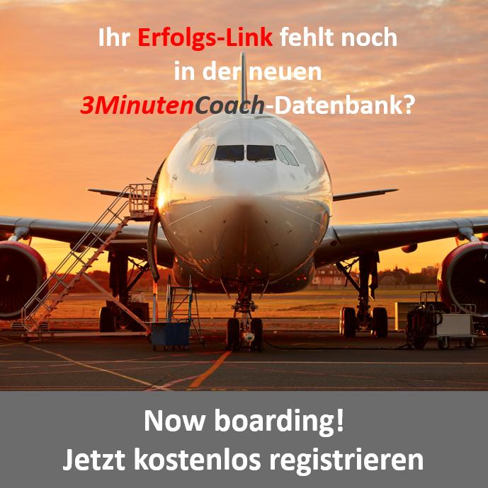 Now boarding - Jetzt kostenlos registrieren