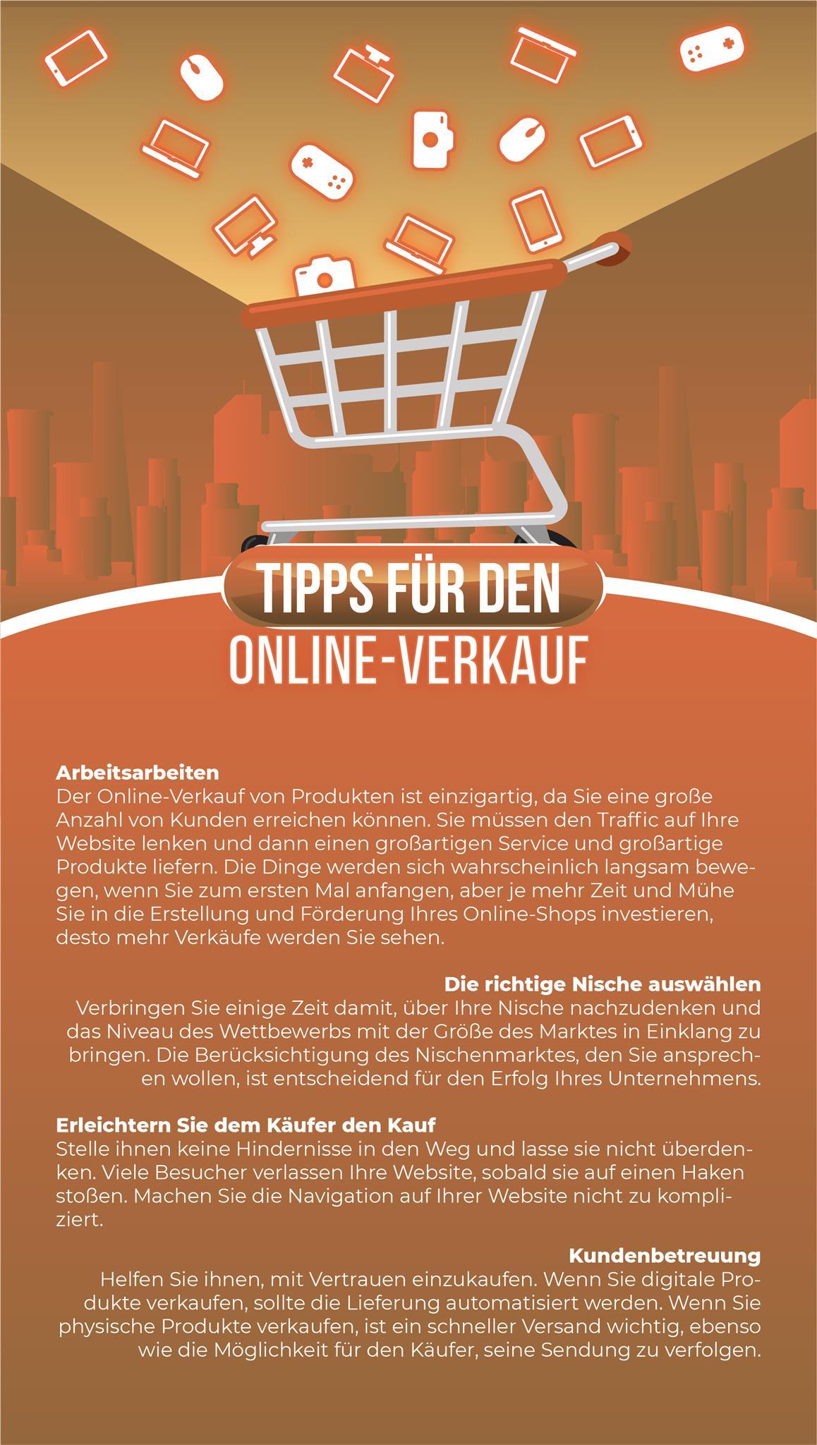 Tipps für den Online Verkauf